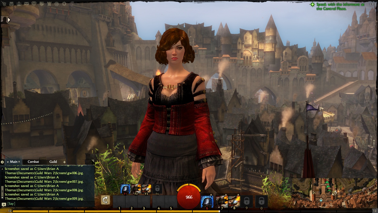 Sthel Thomas, Level 12 Human Engineer, Human City of Divinities Reach - Guild Wars 2